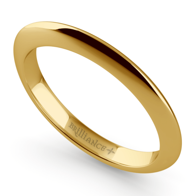 Knife Edge Wedding Ring in Yellow Gold | 01