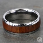 Riptide - Tungsten Mens Ring with Koa Wood Inlay | Thumbnail 04