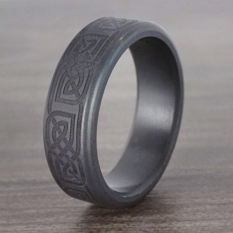 Kratos - Celtic Design Elysium Mens Wedding Band | 04