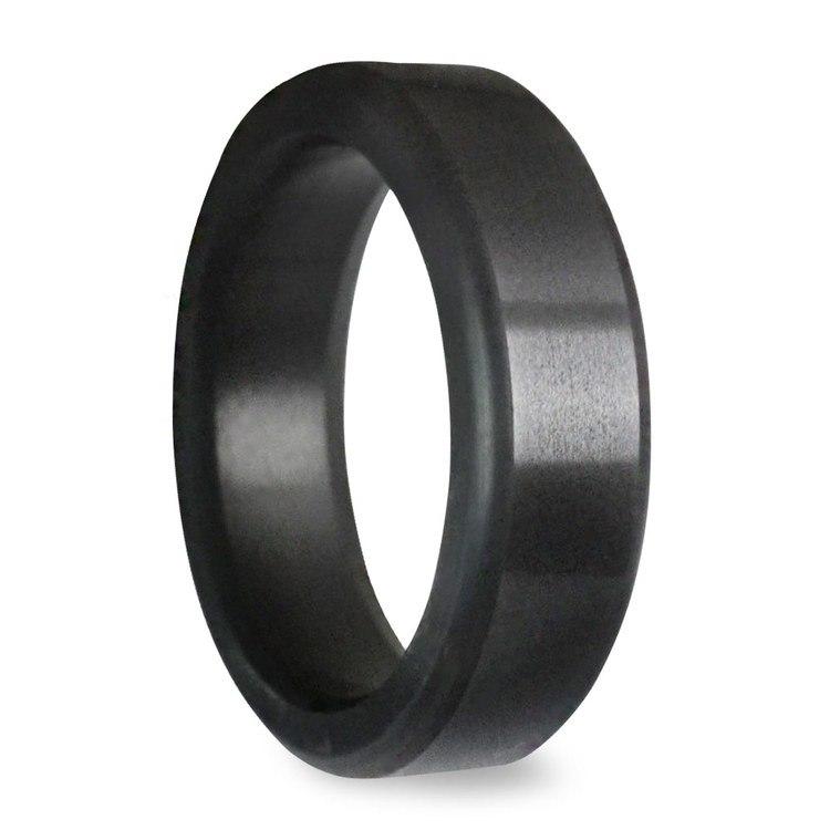 Kratos - Polished Flat Elysium Ring (6mm) | 02
