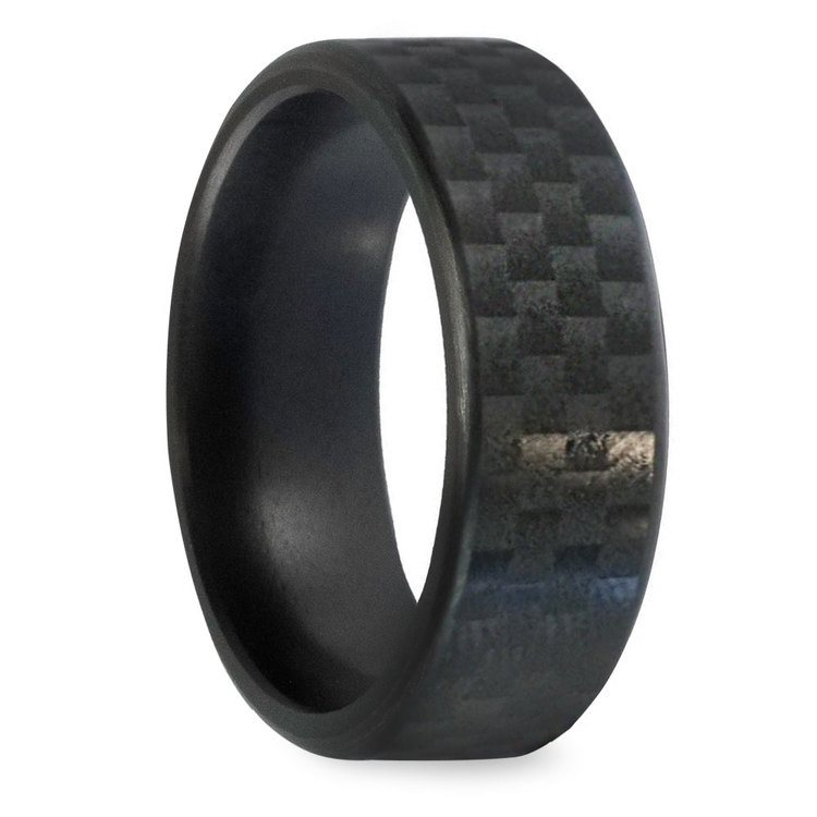 Kratos - Carbon Fiber Polished Elysium Ring  | 02