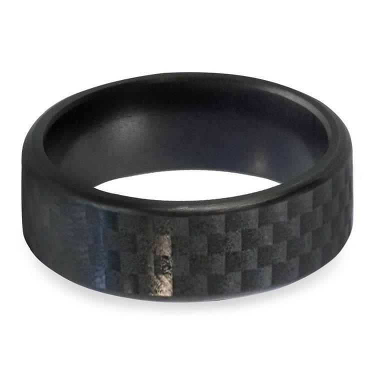 Kratos - Carbon Fiber Polished Elysium Ring  | 03