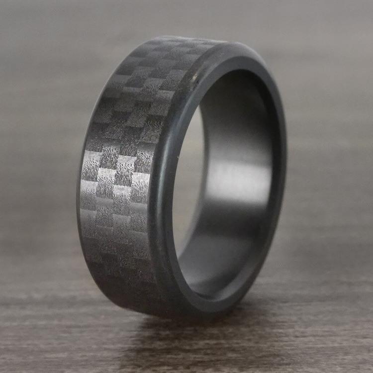 Kratos - Carbon Fiber Polished Elysium Ring  | 04