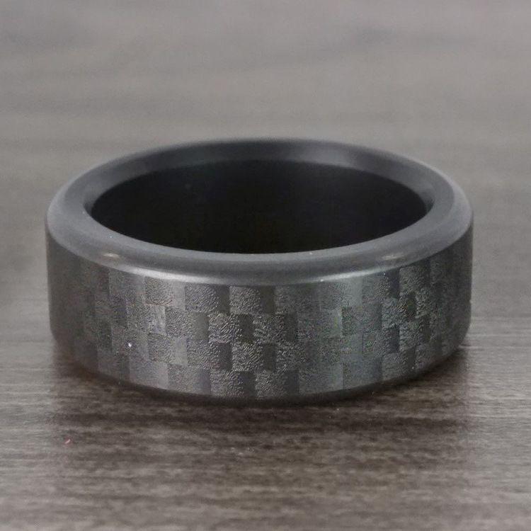Kratos - Carbon Fiber Polished Elysium Ring  | 05