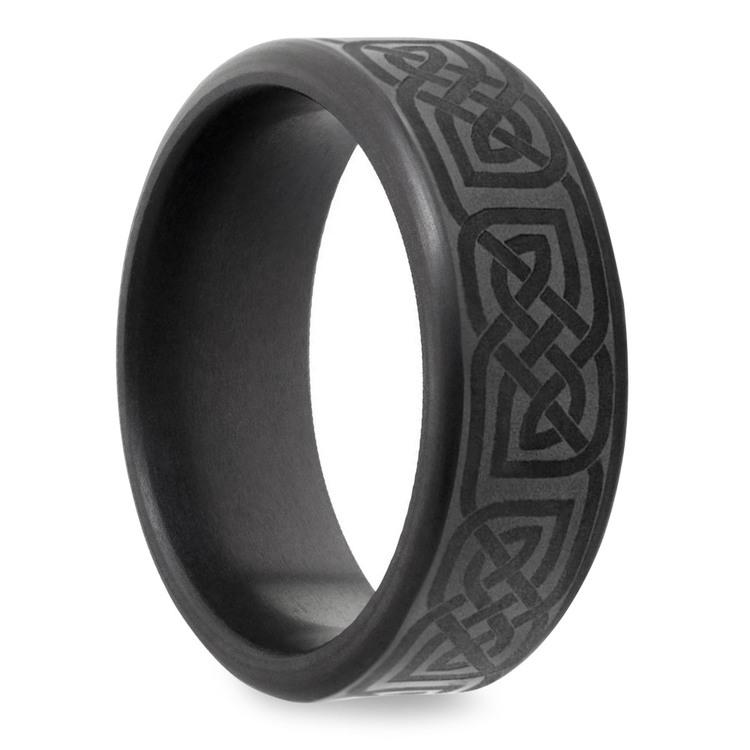 Kratos - Polished Celtic Design Elysium Mens Wedding Band | 02
