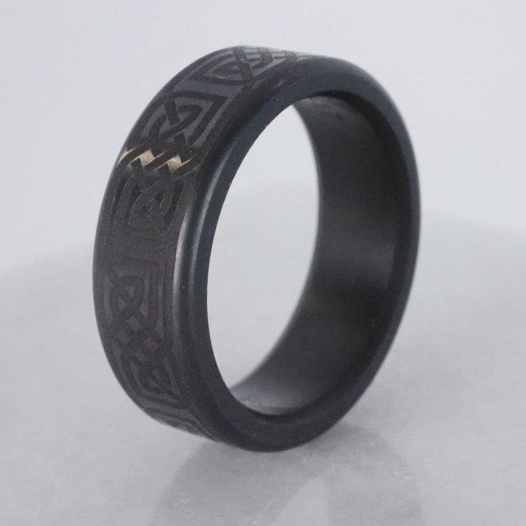 Kratos - Polished Celtic Design Elysium Mens Wedding Band | 06