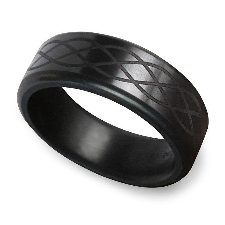 Kratos - Polished Celtic Weave Elysium Ring  | 01