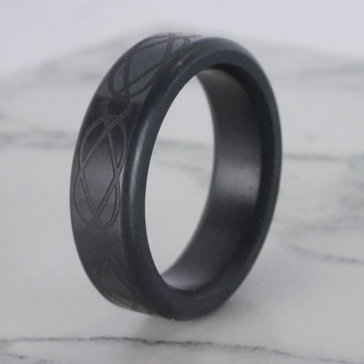 Kratos - Polished Celtic Weave Elysium Ring (6mm) | 04