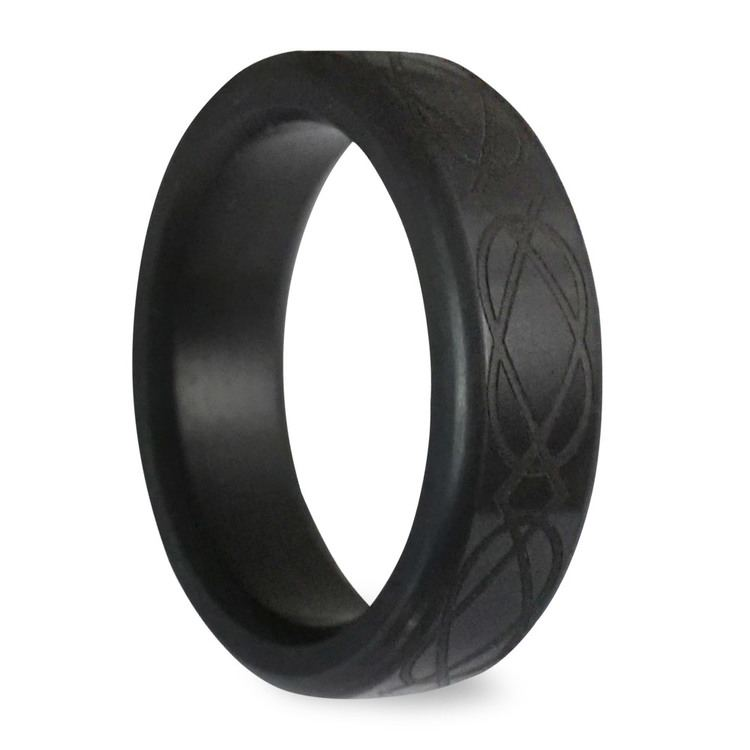 Kratos - Polished Celtic Weave Elysium Ring (6mm) | 02