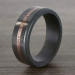 Kratos - Rose Gold Mokume Inlay Polished Elysium Wedding Band | Thumbnail 04