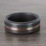 Kratos - Rose Gold Mokume Inlay Polished Elysium Wedding Band | Thumbnail 05