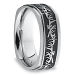 Buck Wild - Cobalt Mens Wedding Band with Antler Pattern | Thumbnail 02