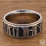 Aspen - Laser Carved Mens Wedding Band | Thumbnail 03