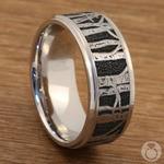 Aspen - Laser Carved Mens Wedding Band | Thumbnail 04