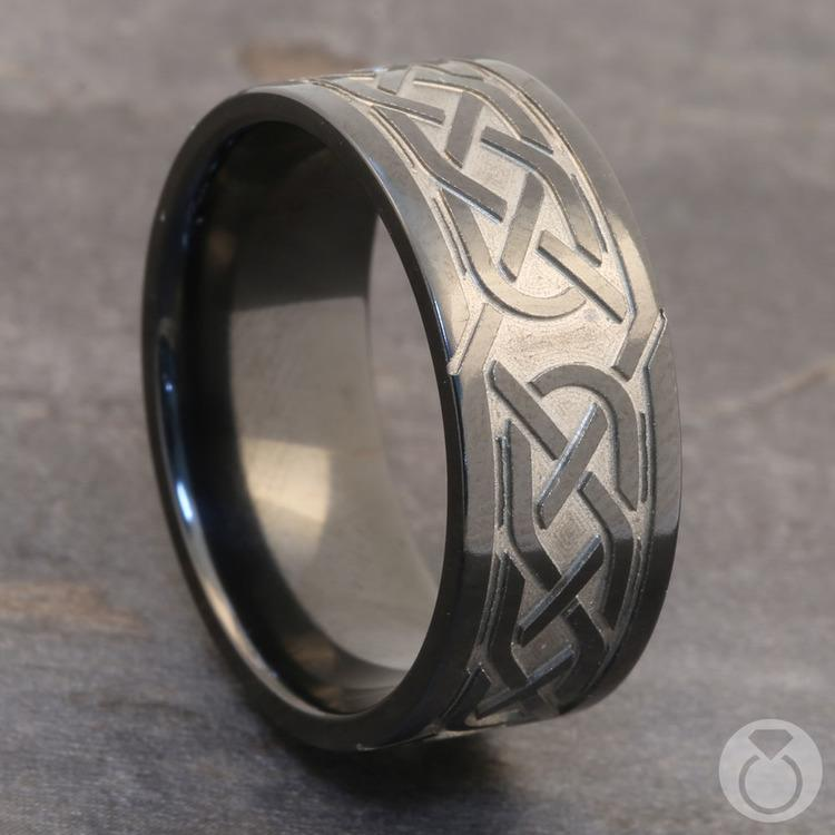 Trinity Knot - Celtic Knot Mens Wedding Band | 04