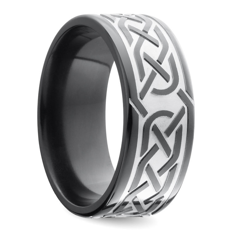 Trinity Knot - Celtic Knot Mens Wedding Band | 02