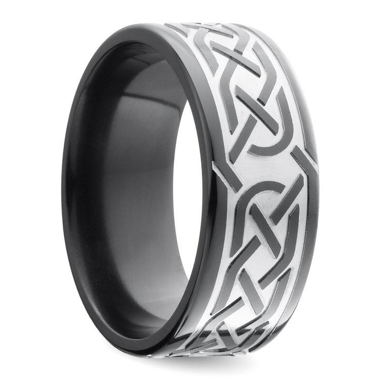 Trinity Knot - Celtic Knot Mens Wedding Band | 02