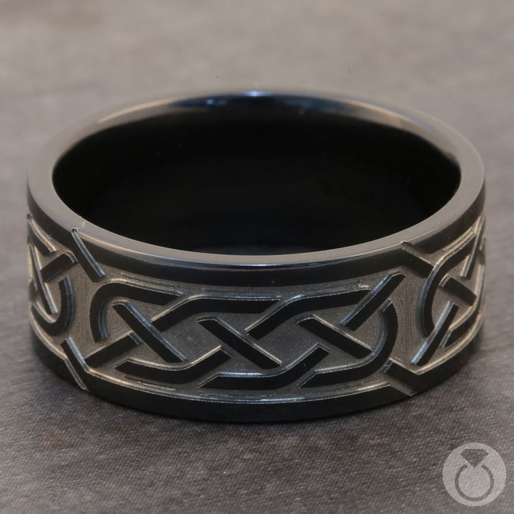 Trinity Knot - Celtic Knot Mens Wedding Band | 03