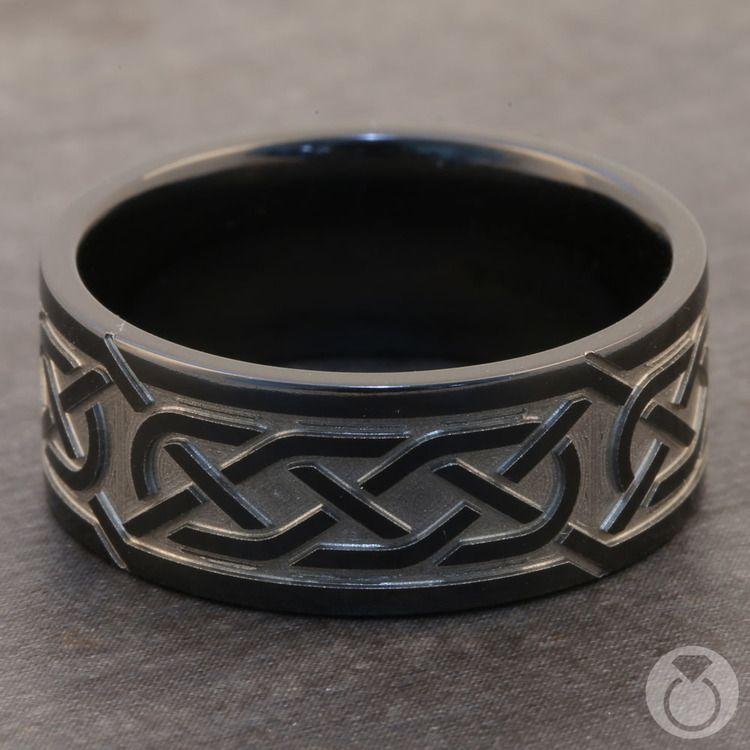 Trinity Knot - Celtic Knot Mens Wedding Band | 03