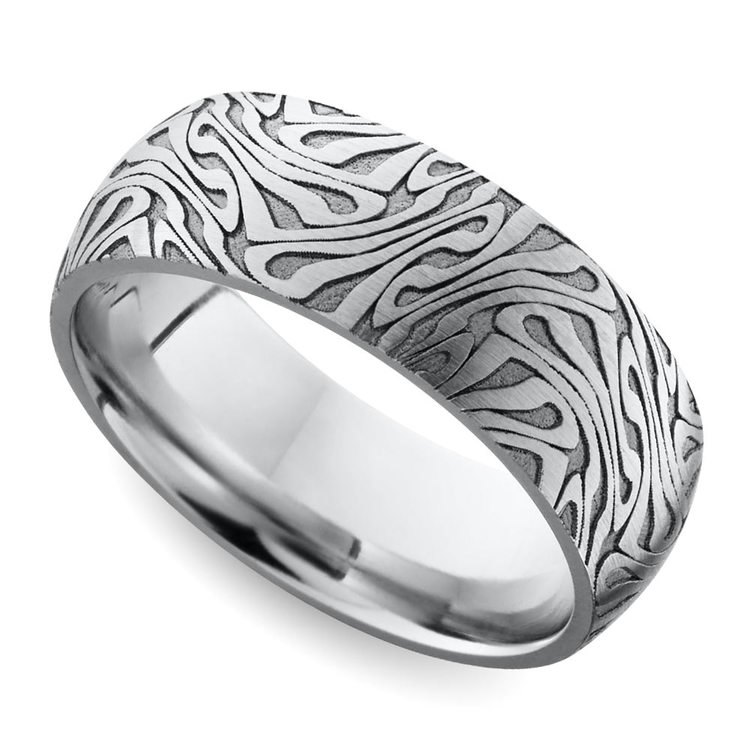 Laser Carved Wedding Ring in Cobalt | 01
