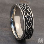Heartstrung - Titanium Mens Band with Celtic Sailor's Knot | Thumbnail 05