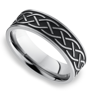 Heartstrung - Titanium Mens Band with Celtic Sailor's Knot