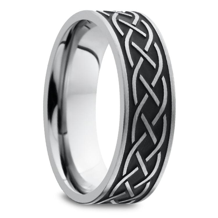 Heartstrung - Titanium Mens Band with Celtic Sailor's Knot | 02