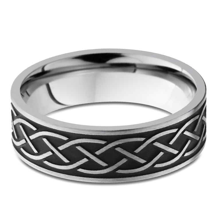 Heartstrung - Titanium Mens Band with Celtic Sailor's Knot | 03