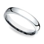 Low Dome Men's Wedding Ring in Palladium (4.5mm) | Thumbnail 01