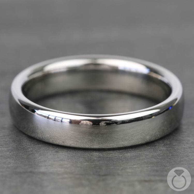 Low Dome Men's Wedding Ring in Platinum (4.5mm) | 03