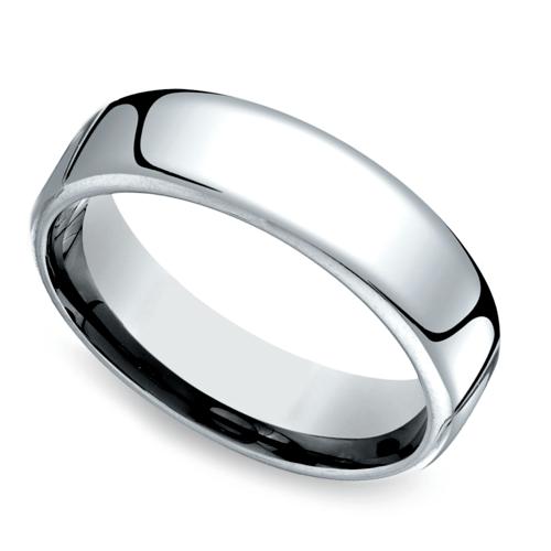 low dome mens wedding ring in platinum 65mm - Platinum Mens Wedding Rings