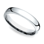 Low Dome Men's Wedding Ring in White Gold (4.5mm)   Thumbnail 01