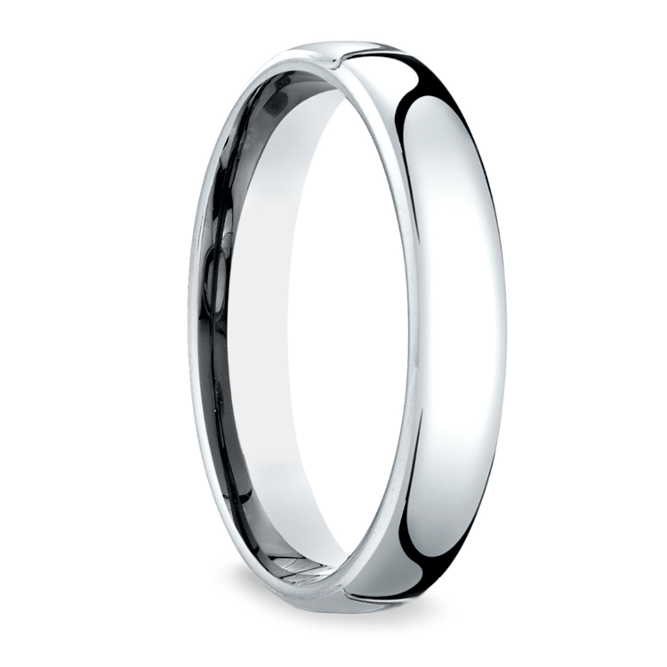 Low Dome Men's Wedding Ring in White Gold (4.5mm) | 02