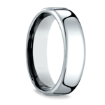Low Dome Men's Wedding Ring in White Gold (6.5mm) | Thumbnail 02