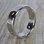 Low Dome Men's Wedding Ring in White Gold (6.5mm) | Thumbnail 03