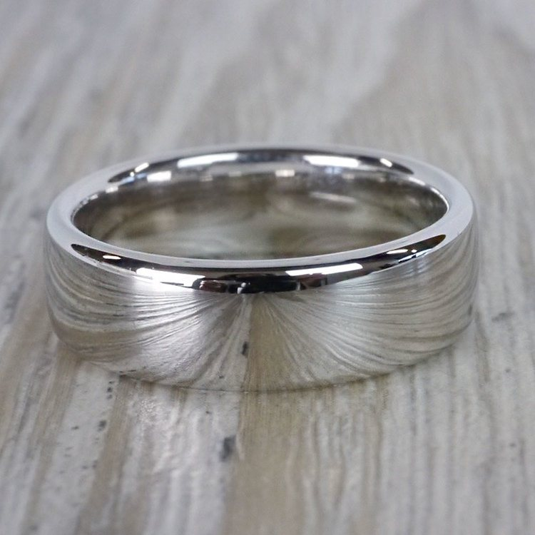 Low Dome Men's Wedding Ring in White Gold (6.5mm) | 04