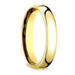 Low Dome Wedding Ring in Yellow Gold (4.5mm) | Thumbnail 02