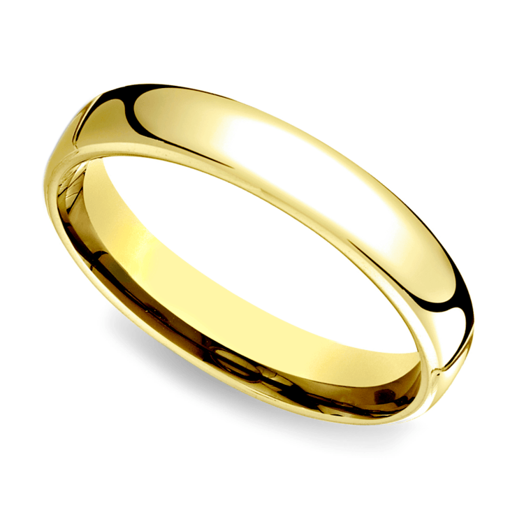 Low Dome Wedding Ring in Yellow Gold (4.5mm) | 01