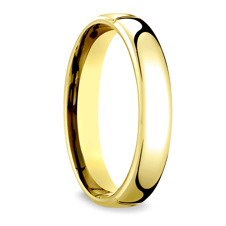 Low Dome Wedding Ring in Yellow Gold (4.5mm) | 02