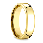 Low Dome Men's Wedding Ring in Yellow Gold (6.5mm) | Thumbnail 02