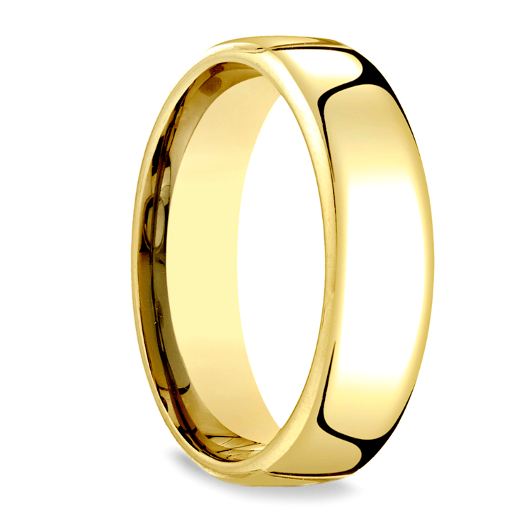 Low Dome Men's Wedding Ring in Yellow Gold (6.5mm) | 02