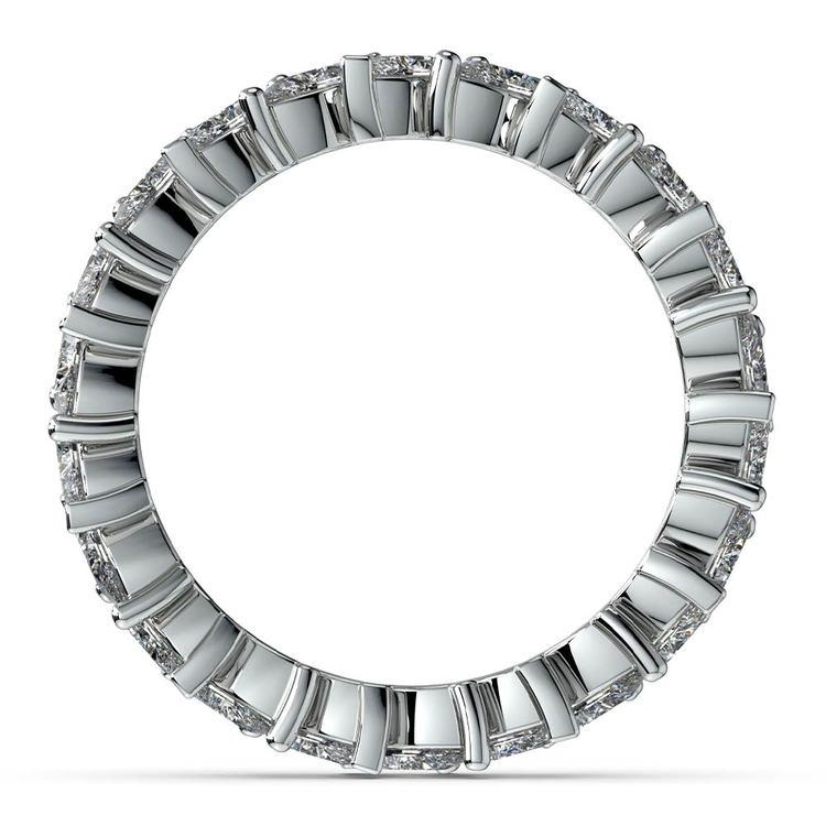 Elegant Marquise Diamond Eternity Band In Platinum | 03