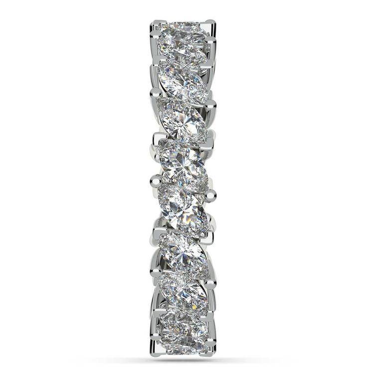 Elegant Marquise Diamond Eternity Band In Platinum | 05