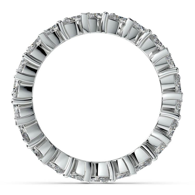 Shimmering Marquise Diamond Eternity Band In White Gold | 03