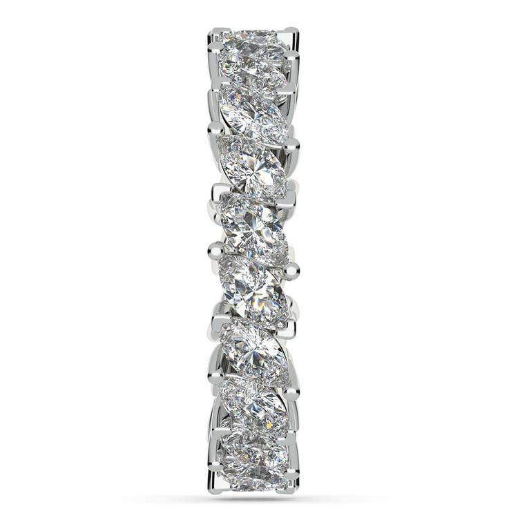 Shimmering Marquise Diamond Eternity Band In White Gold | 05
