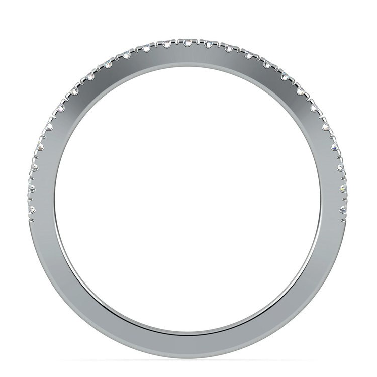 Matching Cross Split Low Diamond Wedding Ring in Platinum | 03