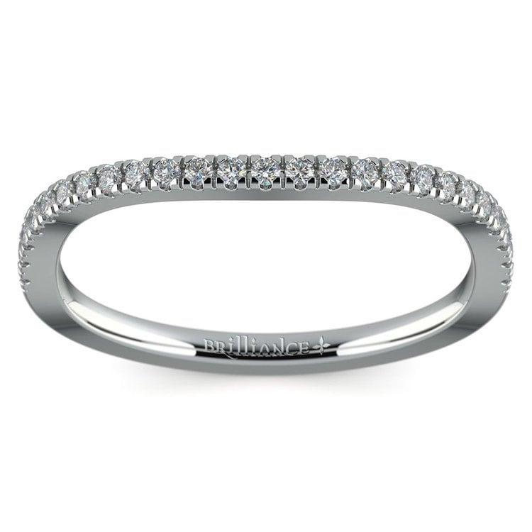 Matching Cross Split Low Diamond Wedding Ring in White Gold | 02