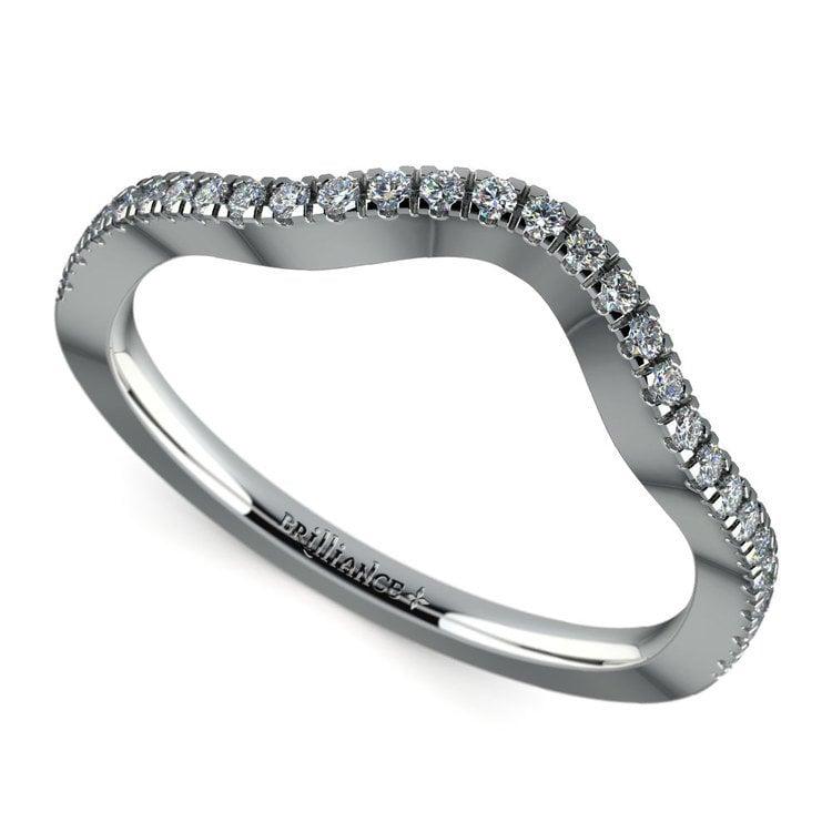 Matching Cross Split Raised Diamond Wedding Ring in Platinum | 01