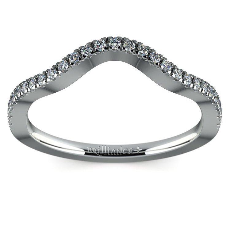 Matching Cross Split Raised Diamond Wedding Ring in Platinum | 02