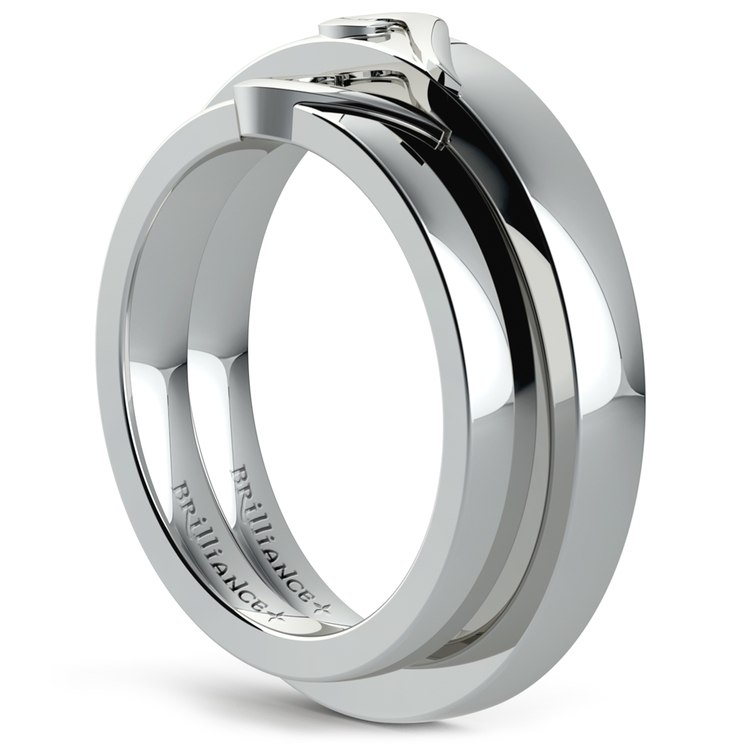 Matching Curled Heart Wedding Ring Set in Platinum | 04